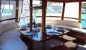 Dining and living area on gulet - dalmagic-cruise.com